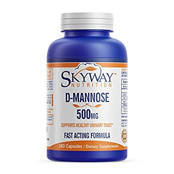 Skyway Nutrition D-Mannose supplement 500mg 180 Capsules - D Mannose for Healthy Urinary Tract formula - Supports Bladder Health