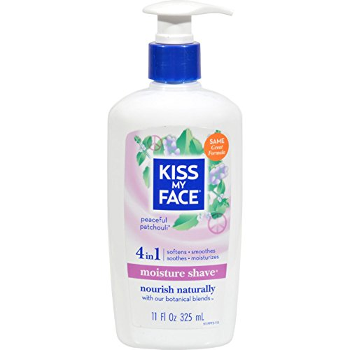 Kiss My Face Moisture Shave Peaceful Patchouli - 11 fl oz (Pack of 3) by Kiss My Face
