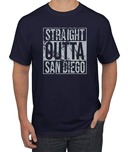 Wild Bobby Straight Outta San Diego SD Fan | Fantasy Baseball Fans | Mens Sports Graphic T-Shirt, Navy, Large