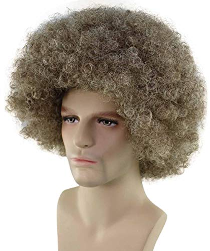 Halloween Party Online 80's Painter Afro Wig, Brown ()
