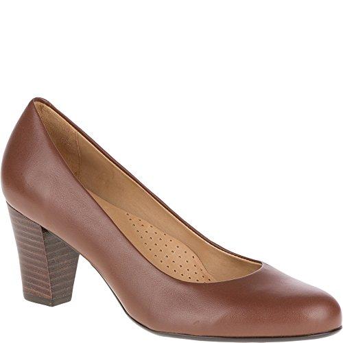 Hush Puppies Womens/Ladies Alegra Slip On Leather Mid Heel Court Shoes Tan