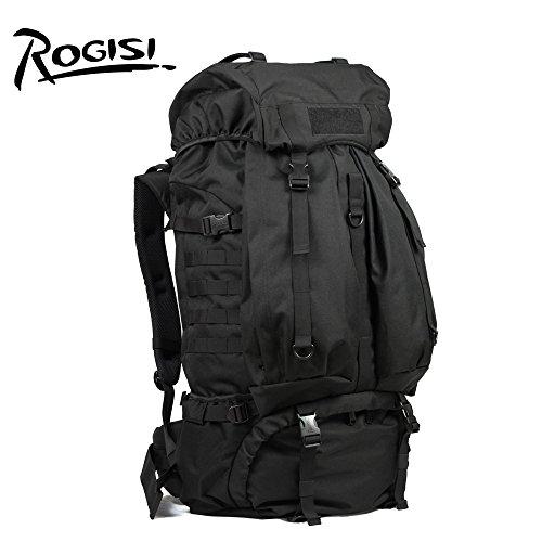 HYSXM Mountaineering Bag 80L Outdoor Freizeitaktivitäten leichtes Wandern Bergsteigen floding Paket Wasserdicht Großes Fassungsvermögen Haut Taschen