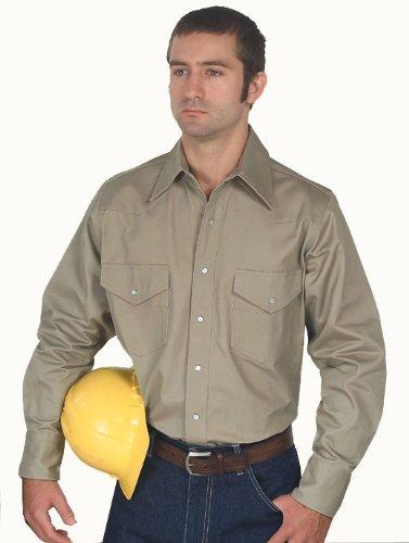 Walls Men's Big Heavy Weight Welding Shirt, Khaki, XX-Large/Regular