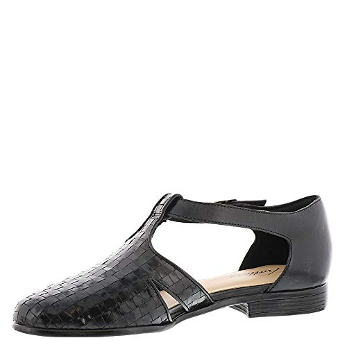 Leatha Toe Trotters Strap Womens Black Ankle Closed Loafers x5wBtXrB