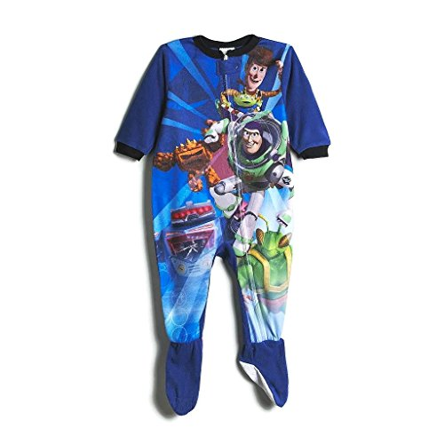 TOY STORY BUZZ, WOODY and ZURG Boy's 4T Fleece Footed Pajama Sleeper