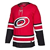 adidas Hurricanes Home Authentic Pro Jersey - Men's Hockey 44 Red/White/Black