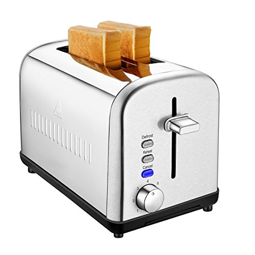 2-Slice Toaster with Stainless Steel for Breakfast