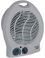 Einhell Värmefläkt HKL 2000 (2 000 W max. värmeeffekt, termostatregulator, 2 värmenivåer, automatisk. avstängning när välter vält, bärhandtag)