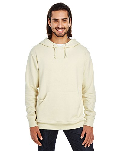 Threadfast Apparel 321H Men's Unisex Triblend French Terry Hoodie Cream Small ()