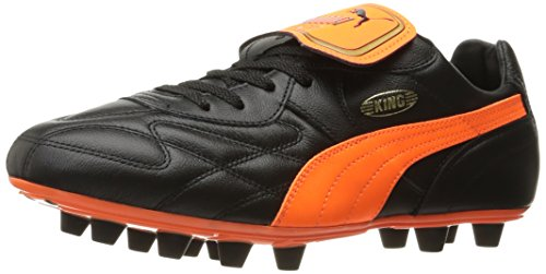 Puma Heren Koning Top Mii Fg Voetbalschoen Puma Zwart / Fluo Oranje / Goud