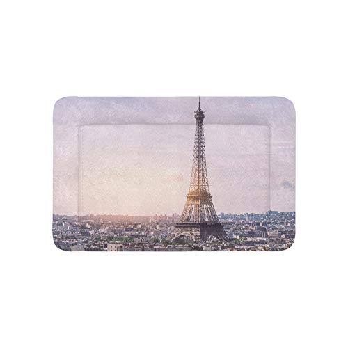 France Skyline Paris Romantic Eiffel Tower Extra Large Bedding Soft Pet Dog Beds Couch for Puppy and Cats Furniture Mat Cave Pad Cover Cushion Indoor Gift Supplier 36 X 23 Inch
