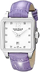 Louis Erard Women's 20700AA11.BDC63 Emotion Square Automatic Purple Leather Diamond Watch