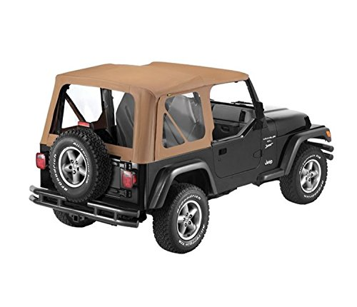 Bestop 79122-37 Spice Sailcloth Replace-A-Top Soft Top  with Clear Windows; no Doors Skins Included for 1997-2002 Wrangler TJ