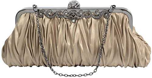- Pulama 1920s Crossbody Bag for Women, Vintage Evening Clutch Purse Wallet, Coffee
