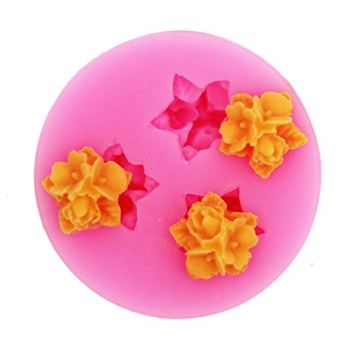 Longzang  Fondant Silicone Sugar Craft Molds Mini Flowers New