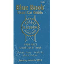 Kelly Blue Book Used Car Guide: January-March 2013