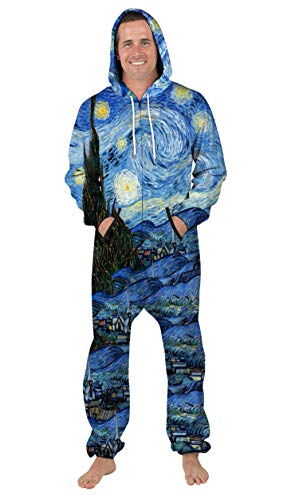 URVIP Unisex Family Sleepwear 3D Printed Jumpsuit Adult Nightwear Romper BES-006 XL
