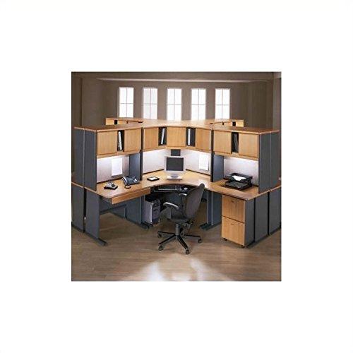 Advantage Series Computer Desk - Bush Furniture Office Computer Desk Natural Cherry and Slate Advantage Series BSA016-574 Cubicle Set