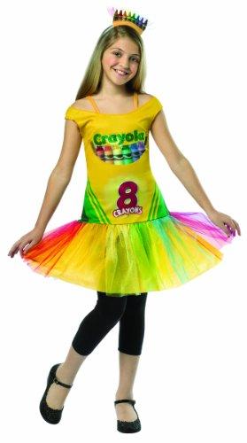 [Rasta Imposta Crayola Crayon Box Dress, Multi, Tween 10-12] (Tween Crayon Costumes)