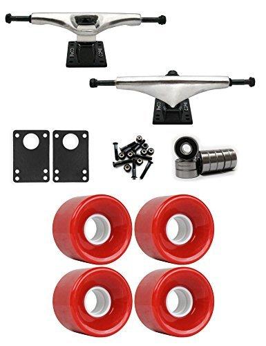コア6.0 Longboard Trucksホイールパッケージ59 mm x 43 mm 78 a 186 Cレッド [並行輸入品]   B078WVNW64