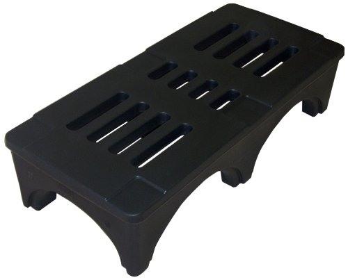 Forte Products 8002029 SureStack Plastic Dunnage and Storage Rack, 1500 Lb. Load Capacity, 60'' L x 22'' W x 12'' H, Black by Forte Products