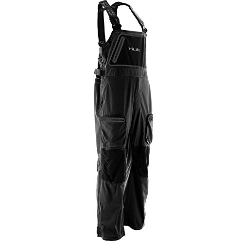 Huk Nxtlvl All Weather Waterproof Bib, Black, (All Weather Bib)