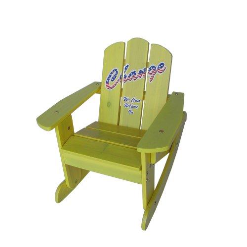 Lohasrus Kids Rocking Chair, Yellow Silk Screen by Lohasrus