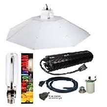 ACE- Solarmax 1000 W HPS Super Light Bulb- Parabolic Chrome Reflector 4 ft Complete Kit
