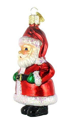 Old World Christmas Short Stuff Santa Glass Blown Ornament