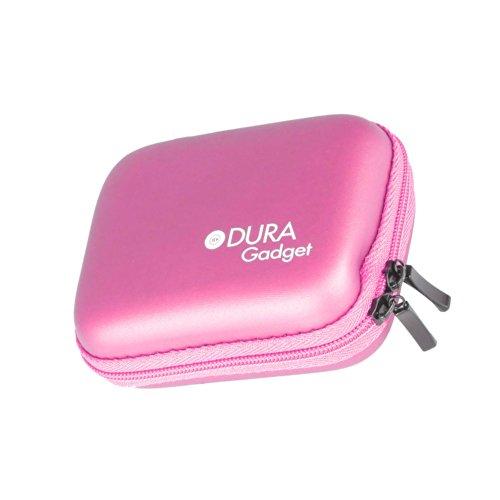 DURAGADGET Funda Rosa Compatible con Vtech Kidizoom Smartwatch/DX + Cargador MicroUSB + Mini Mosquetón