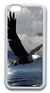 3D Eagle Custom iphone 6 plus 5.5inch Case Cover PC hard White