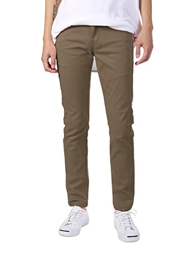 JD Apparel Men's Basic Casual Color Skinny Fit Twill for sale  Delivered anywhere in USA