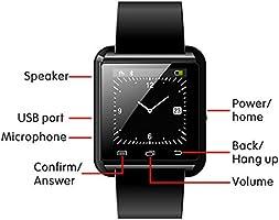 DOESIT Smart Watch, Touch Screen Smart Wrist Watch Bluetooth Smartwatch with Camera Pedometer Sleep Monitor for Samsung, Galaxy Note, Nexus, HTC, Sony ...