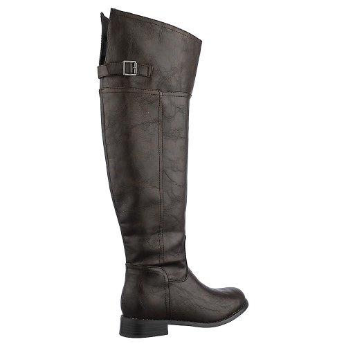 Breckelles Womens Rider-82 Boot - Brown Size 6.5 pxgu72