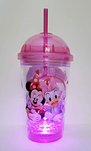 (Minnie Mouse and Daisy Duck Hello Summer Pink Flashing Spiral Straw Cup)