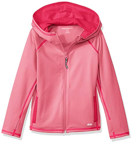Amazon Essentials    Girls' Full-Zip Active Jacket, Pink, S (6-7) (Quilted Kids Jacket)