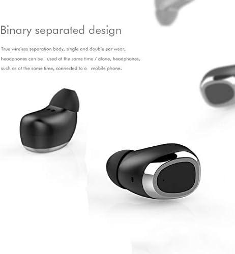 Chennong AYDワイヤレスヘッドセット(ディープベースステレオサウンド、Bluetooth 5.0イヤフォン、イヤホン内蔵マイク、スリップ防止デザイン、ハンズフリー通話) (Color : Black)