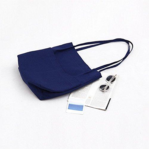 Daorier Main Bleu Foncé Bag Occasionnels Mode Épaule Tote Toile Par Femmes En À Sac blanc Messager gRSSF4qwpn
