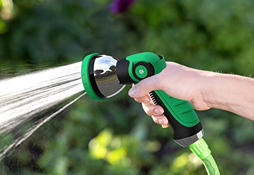 Vremi Heavy Duty Metal Garden Hose Nozzle   10 Pattern High Pressure Thumb  Control Jet Shower Sprayer For ...