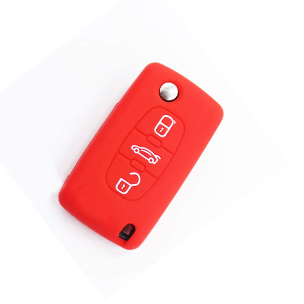 Amazon.com: Silicona Peugeot Citroën 3 Botones, Rojo: Automotive