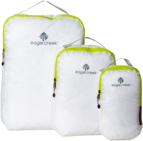 - Eagle Creek Travel Gear Luggage Pack-it Specter Cube Set, White/Strobe