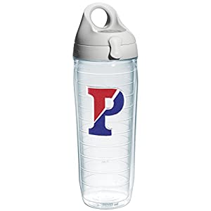 Tervis Pennsylvania University Emblem Individual Water Bottle with Gray Lid, 24 oz, Clear