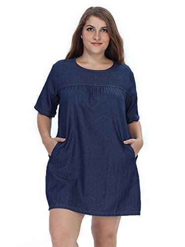 formal denim dress - 5