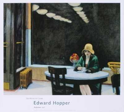 Automat Set - Edward Hopper - Automat, 1927 Offset Lithograph