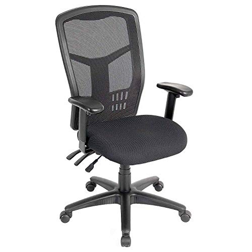 Global Industrial Multifunction Office Chair, Mesh Back, Fabric Upholstered Seat ()