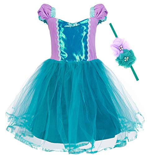 Princess Cinderella Rapunzel Little Mermaid Dress Costume for Baby Toddler Girl (18-24 Months, -