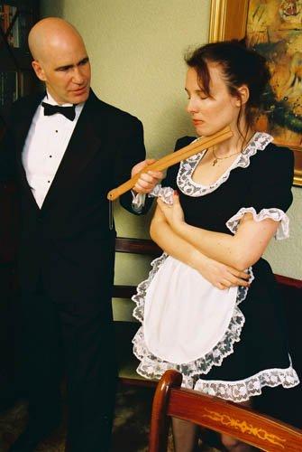 Similar maids spanked in pantyhose