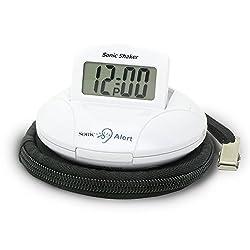Cool Alarm Clock, Sonic Alert Sbp100 Digital Loud Home Small Bedside Alarm Clock