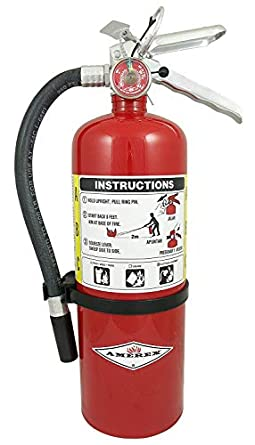 Amerex B402, 5lb ABC Dry Chemical Class ABC Fire Extinguisher, with Wall  Bracket