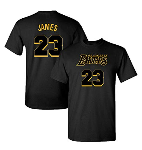 Finitee City Edition Lakers Jersey T-Shirt with Full Colors Digital Printed Front & Back. (Medium, James)